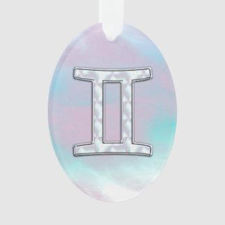 Símbolo do zodíaco dos Gêmeos da madrepérola