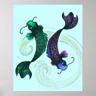 Símbolo dos peixes poster