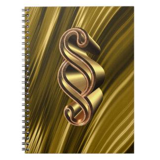 Símbolo dourado do parágrafo caderno