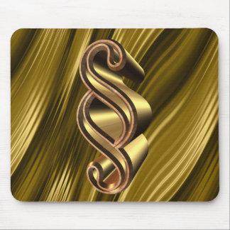 Símbolo dourado do parágrafo mousepad