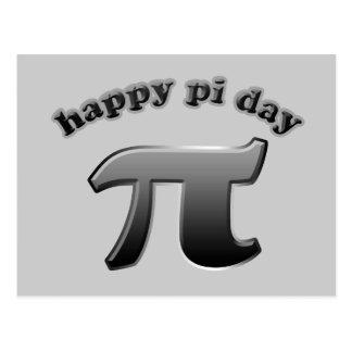 Símbolo feliz do Pi do dia do Pi para nerd da mate Cartão Postal