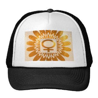 Símbolo fêmea do ícone: Energia dourada do Boné