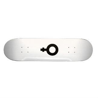 Símbolo fêmea skate