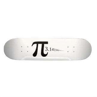 """Símbolo gigante & 3,14 do """"Pi""""… Shape De Skate 20,6cm"""