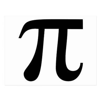 """Símbolo gigante do """"Pi"""" Cartão Postal"""