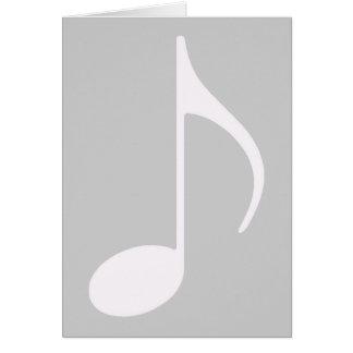 símbolo gráfico de nota musical cartão comemorativo