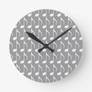 símbolo gráfico de nota musical relógios de paredes