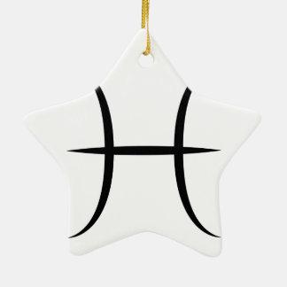 símbolo grego do horóscopo do zodíaco da ornamento de cerâmica estrela