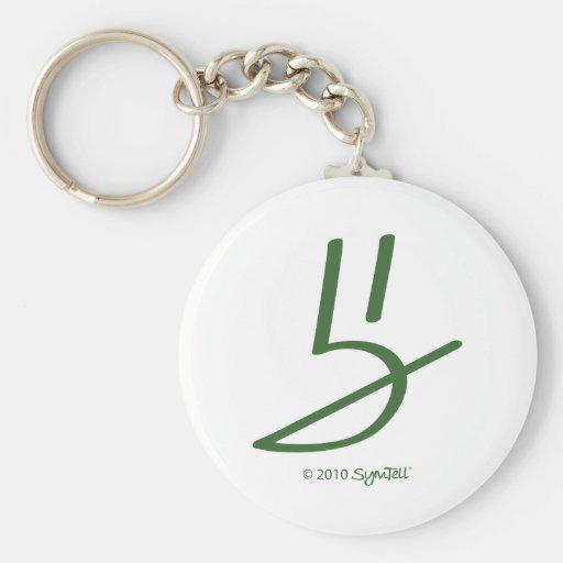 Símbolo honesto verde de SymTell Chaveiro