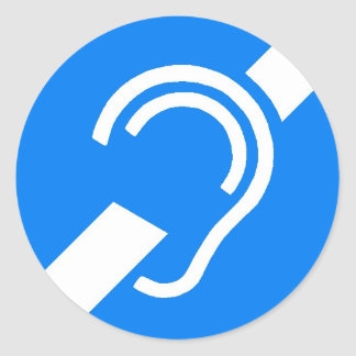 Símbolo internacional da etiqueta para o surdo