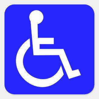 Símbolo internacional oficial do acesso adesivo quadrado