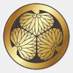 Símbolo japonês da crista KAMON da família Adesivo
