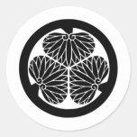 Símbolo japonês da crista KAMON da família Adesivos
