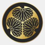 Símbolo japonês da crista KAMON da família Adesivo Em Formato Redondo