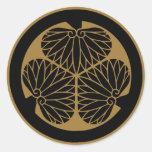 Símbolo japonês da crista KAMON da família Adesivos Redondos