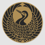 Símbolo japonês da crista KAMON da família Adesivo Redondo