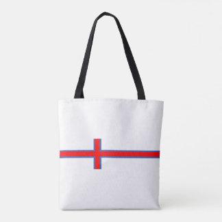 símbolo longo da bandeira de país de Faroe Island Bolsa Tote