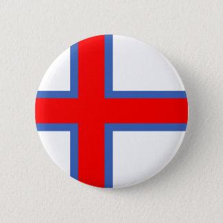 símbolo longo da bandeira de país de Faroe Island Bóton Redondo 5.08cm