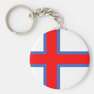 símbolo longo da bandeira de país de Faroe Island Chaveiro