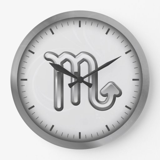 Símbolo luxuoso de prata elegante   do zodíaco da  relógios para pendurar