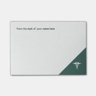 Símbolo médico do Caduceus do escritório Sticky Notes