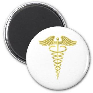 Símbolo médico do ouro do Caduceus Imas