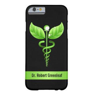 Símbolo médico verde da medicina alternativa do capa barely there para iPhone 6