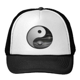 Símbolo metálico brilhante de Yin e de Yang Bone