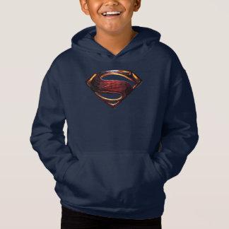 Símbolo metálico do superman da liga de justiça |
