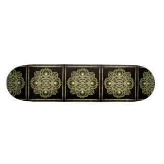 Símbolo místico de pedra skateboard