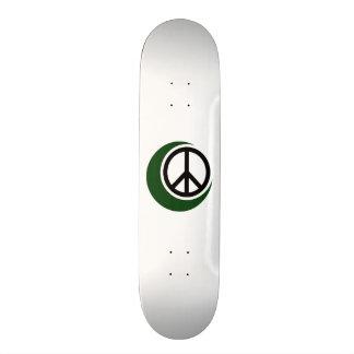 Símbolo muçulmano islâmico com sinal de paz skate personalizado
