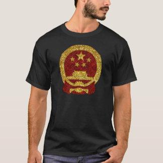 Símbolo nacional chinês no brilho camiseta