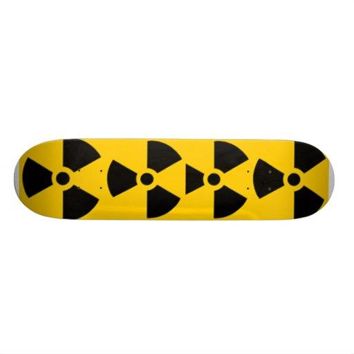 Símbolo nuclear skate personalizado