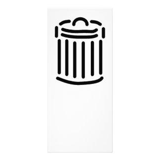 Símbolo preto do balde do lixo panfleto informativo