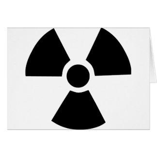 Símbolo radioativo cartão comemorativo