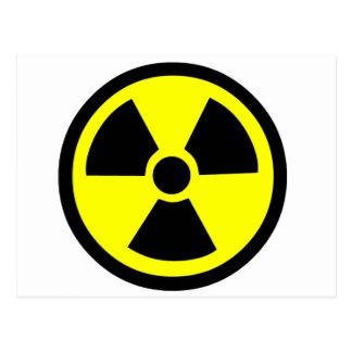 Símbolo radioativo cartão postal