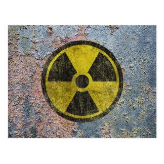 Símbolo radioativo do Grunge Cartão Postal