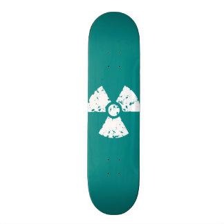 Símbolo radioativo verde da cerceta skate
