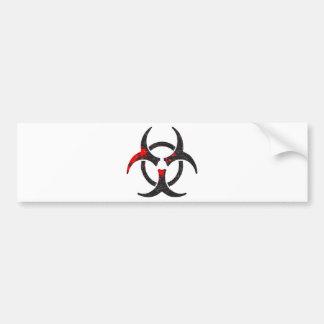 Símbolo sangrento do Biohazard Adesivo Para Carro