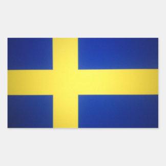 Símbolo sueco afligido da bandeira adesivo retangular