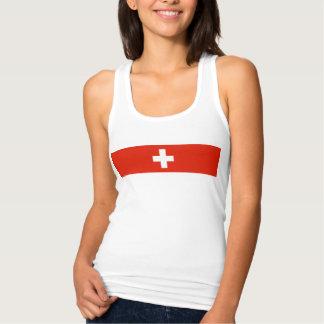 Símbolo suíço da nação da bandeira de país da tshirt