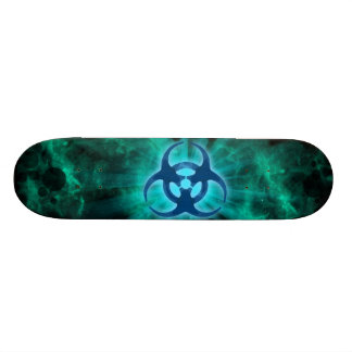 Símbolo tóxico shape de skate 21,6cm