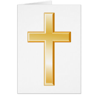 Símbolo transversal cristão cartão