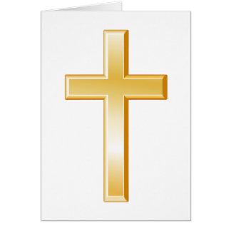Símbolo transversal cristão cartão de nota