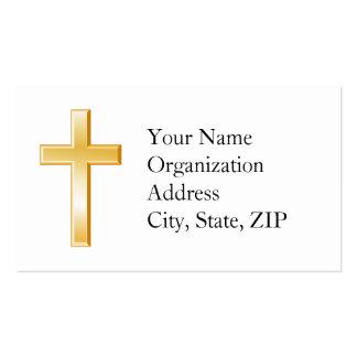 Símbolo transversal cristão cartão de visita