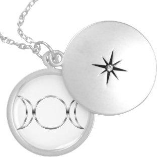 Símbolo triplo pagão da deusa de Falln Colar Medalhão