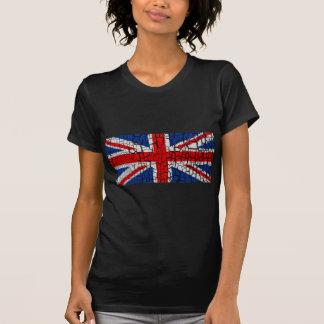 símbolo velho dos EUA da bandeira do grunge de T-shirt
