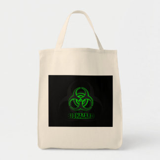 Símbolo verde de incandescência do Biohazard Bolsa Tote