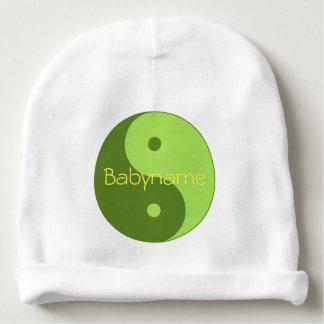 Símbolo verde de Taijitu Yin Yang personalizado Gorro Para Bebê