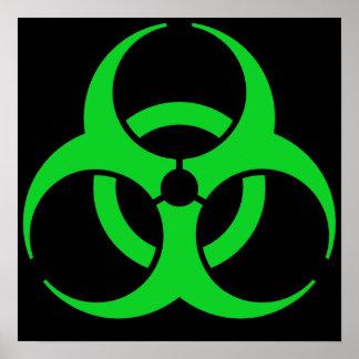 Símbolo verde do Biohazard Impressão